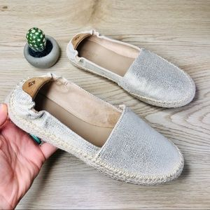 SPERRY espadrille cream metallic thread shoes 7.5
